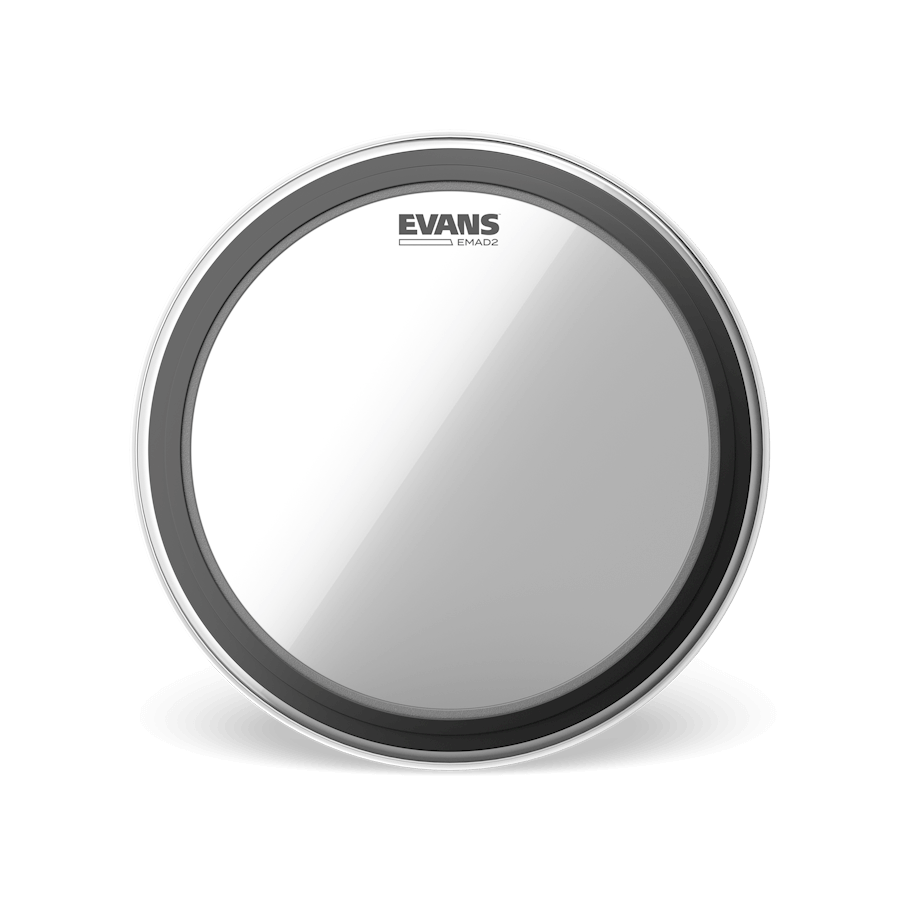 "Evans - EMAD2 Clear Batter 22"" Bass Drum Head-Percussion-Evans-Music Elements"