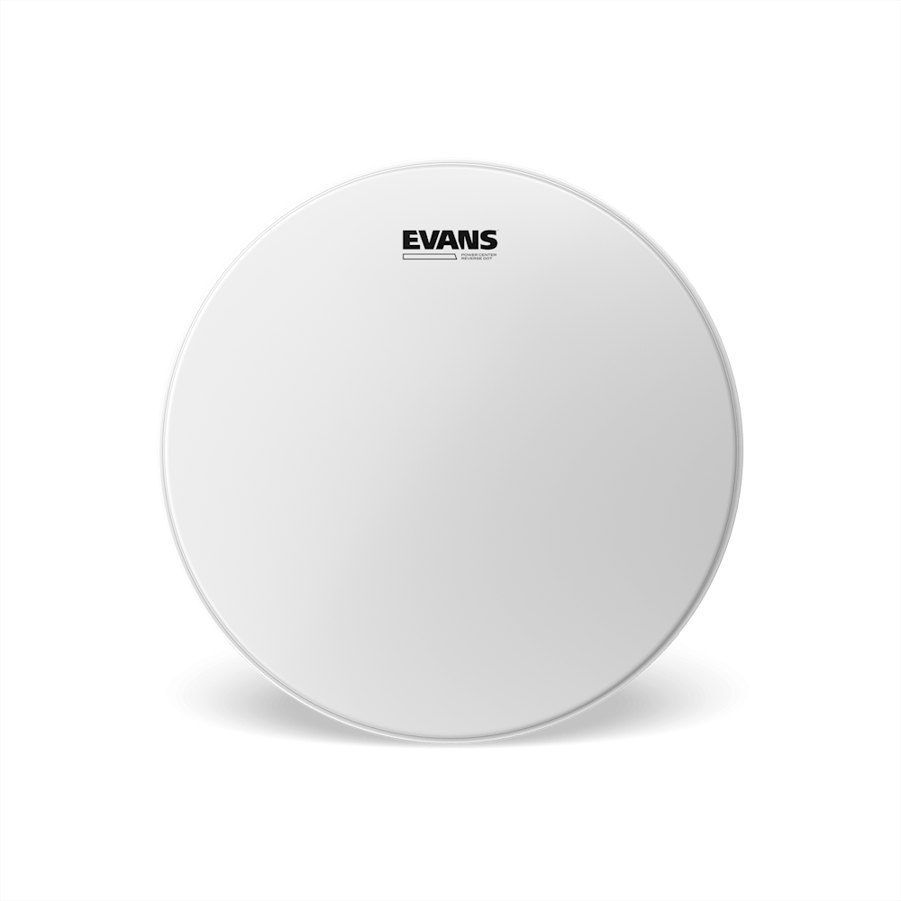 "Evans - Power Center Reverse Dot 13"" Coated Batter Drum Head"