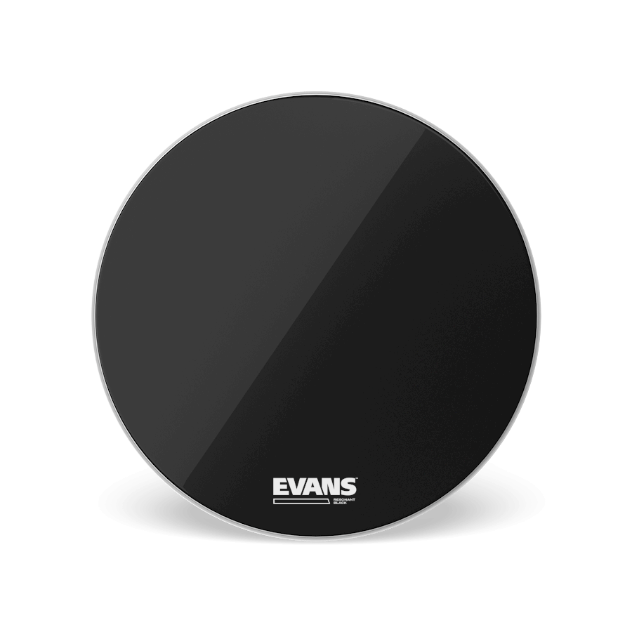 "Evans - Resonant Black Reso 22"" Bass Drum Head-Percussion-Evans-Music Elements"
