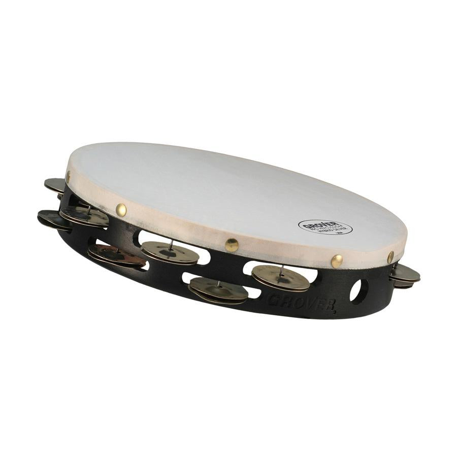 "Grover Pro - Hybrid Silver Double Row Tambourine (10"")"