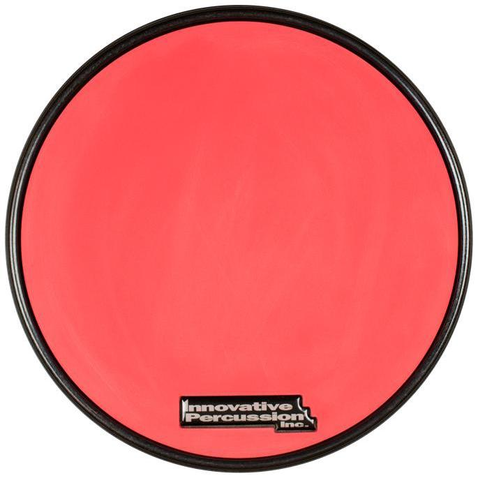 Innovative Percussion - Practice Pads-Percussion-Innovative Percussion-RP-1R Red Gum Rubber Pad with Black Rim-Music Elements