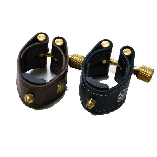 Ishimori WoodStone - Kodama II Leather Ligatures for Soprano Saxophones (for Selmer Hard Rubber Mouthpieces)-Ligature-Ishimori WoodStone-Music Elements