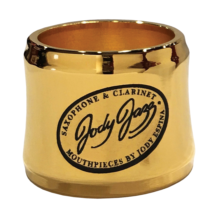 JodyJazz - POWER RING Baritone Saxophone Ligatures-Saxophone-JodyJazz-Hard Rubber/Gold Plated-Music Elements
