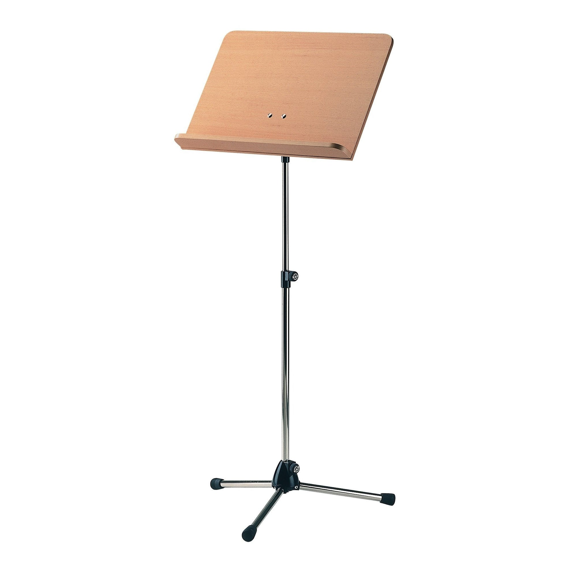 König & Meyer - 118/1 Topline Orchestra Music Stands-Music Stand-König & Meyer-Chrome Stand with Beech Wooden Desk-Music Elements