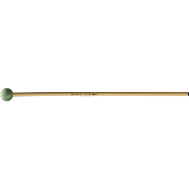 Mike Balter - Grandioso Series Mallets-Percussion-Mike Balter-B104: Light Green Rubber - Medium-Rattan (R)-Music Elements