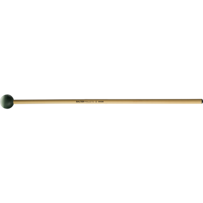 Mike Balter - Grandioso Series Mallets-Percussion-Mike Balter-B105: Dark Green Rubber - Medium Hard-Rattan (R)-Music Elements