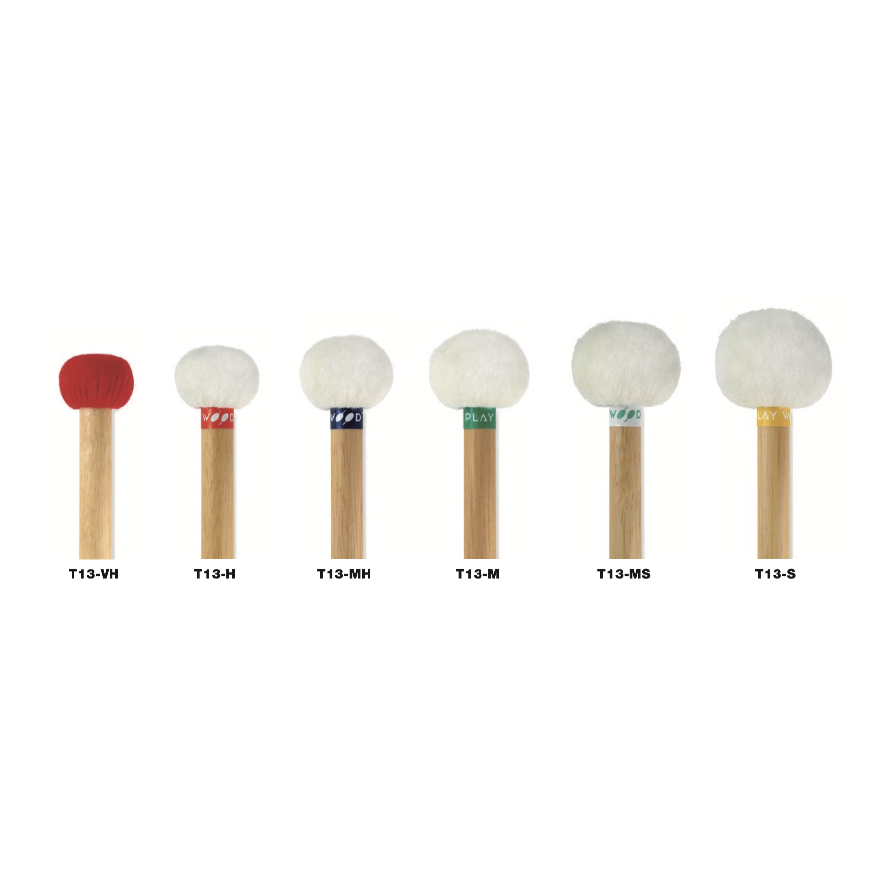 PlayWood - Standard Series T13 Timpani Mallets-Percussion-PlayWood-Music Elements
