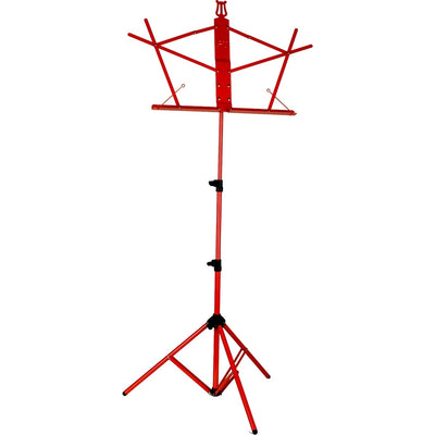 Protec - Aluminum Touring Music Stand Standard Desk with Gig Bag-Accessories-Protec-Red-Music Elements