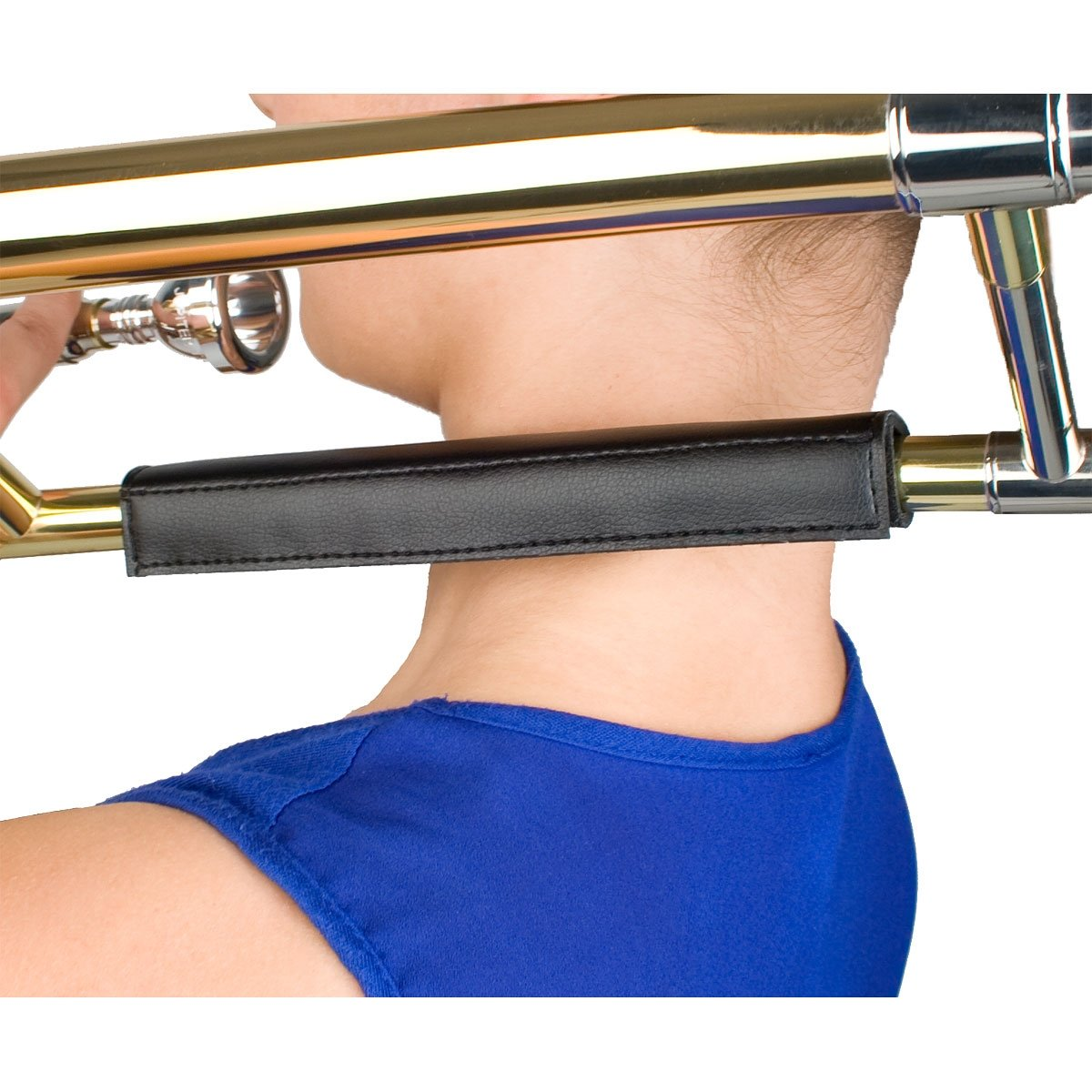 Protec - Padded Leather Neck Guard for Straight Trombones-Accessories-Protec-Music Elements