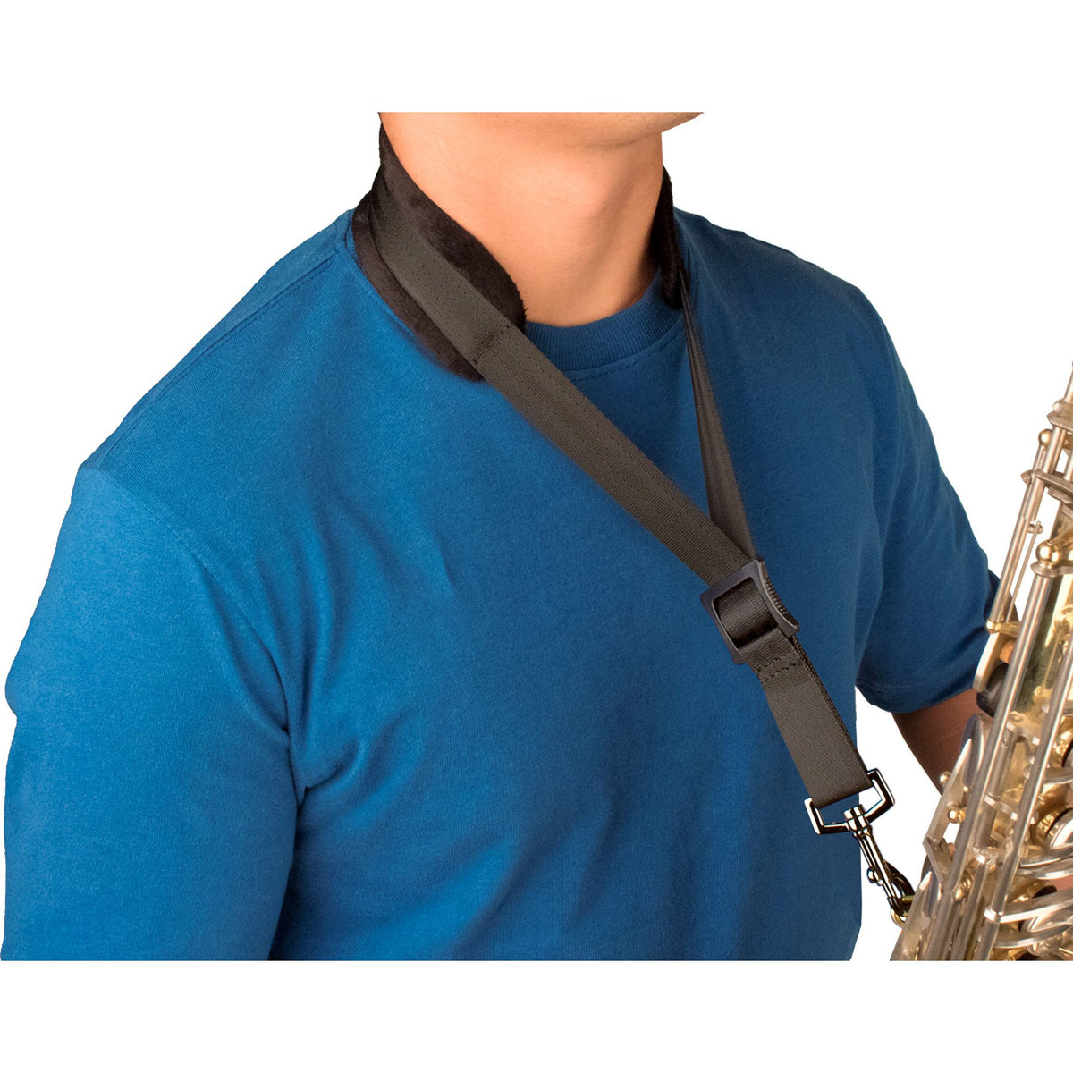 Protec - Saxophone Neck Strap Featuring Velour Neck Pad and Metal Snap-Accessories-Protec-Music Elements