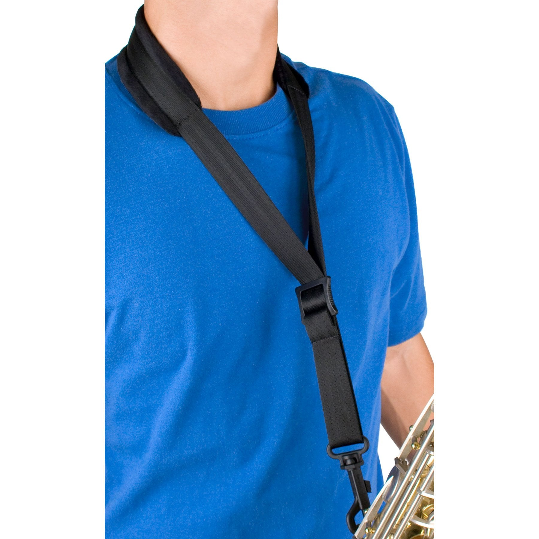 Protec - Saxophone Neck Strap Featuring Velour Neck Pad and Plastic Swivel Snap-Accessories-Protec-Music Elements