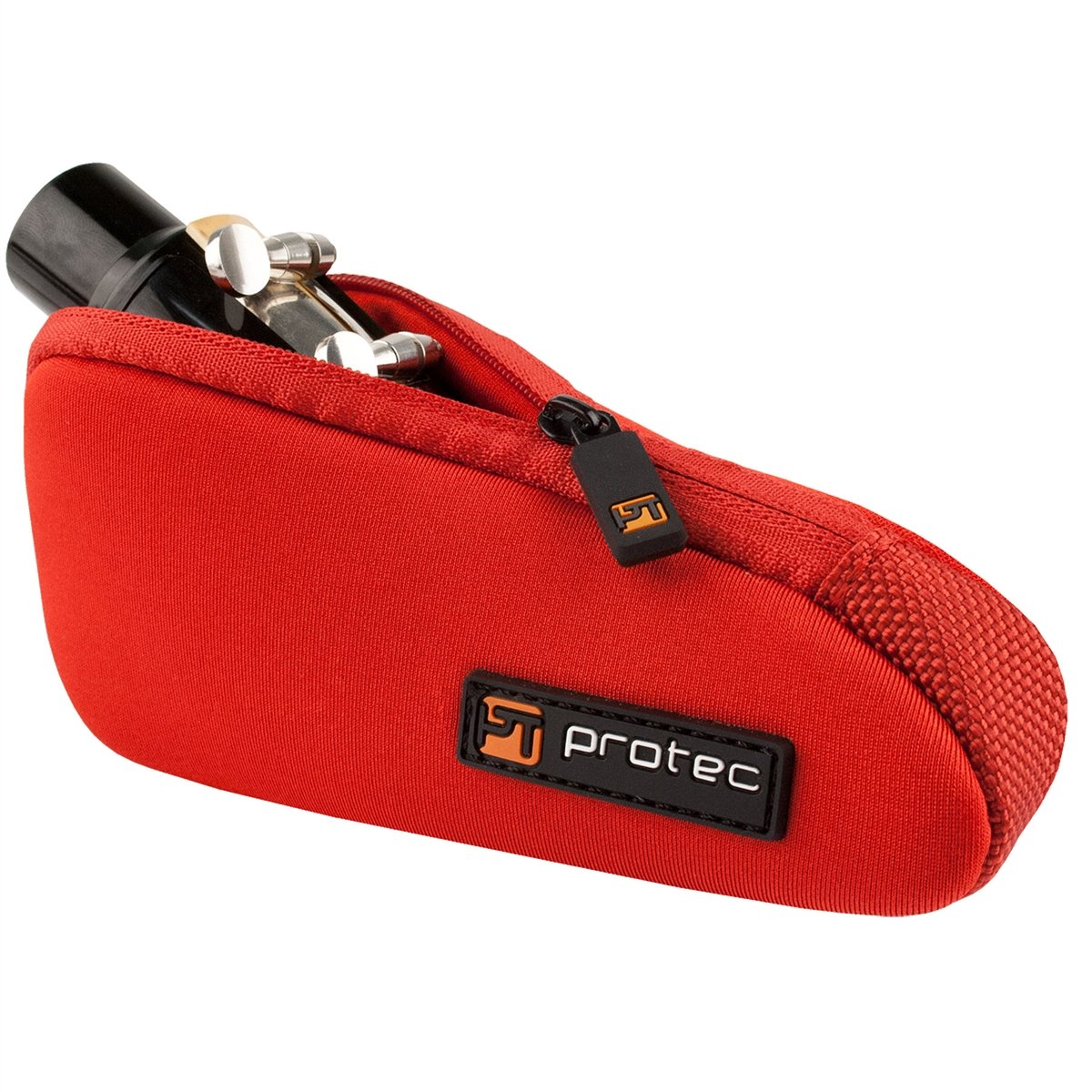 Protec - Single Neoprene Mouthpiece Pouch (for Tuba/Tenor Saxophone)-Accessories-Protec-Red-Music Elements