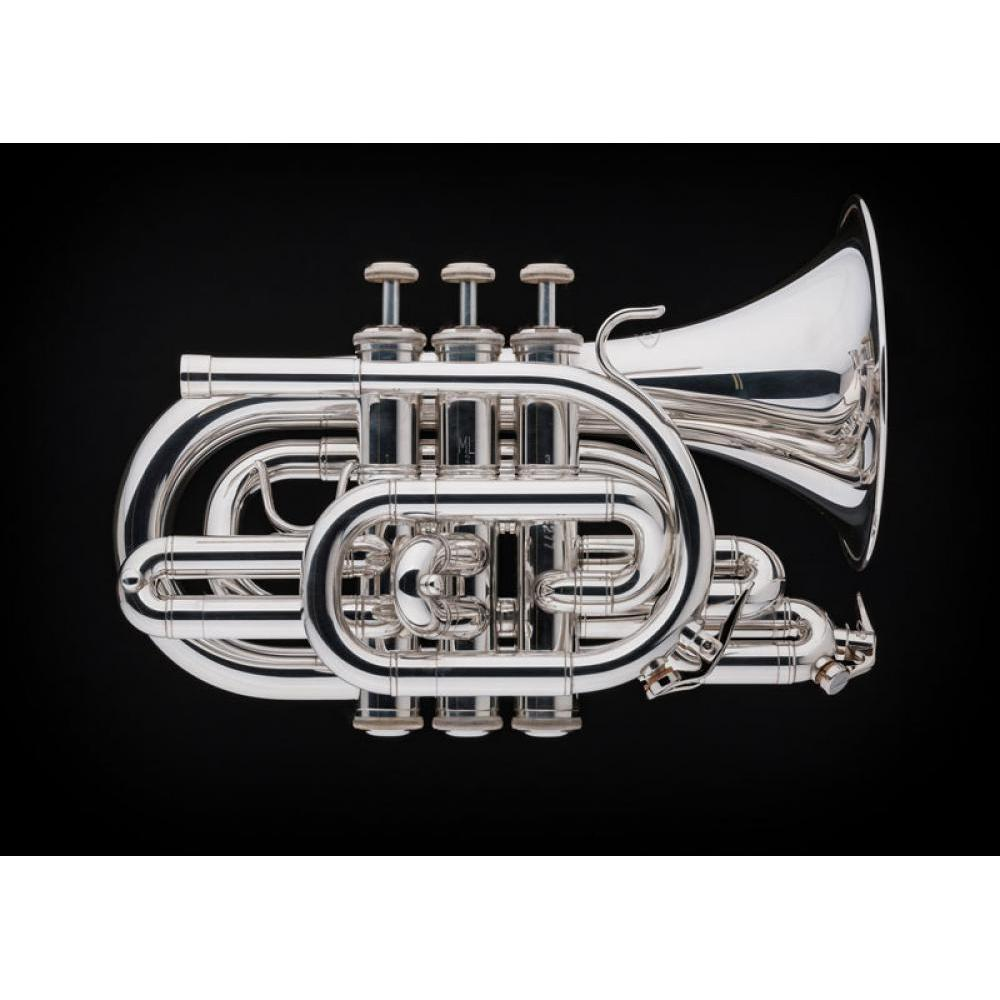 Schagerl - Academica Series - PT-200 Pocket Trumpets-Trumpet-Schagerl-Silver Plated-Music Elements