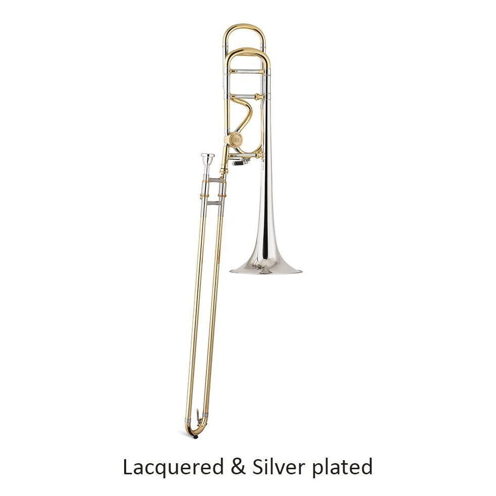 Stomvi - Titán Gold Brass Double Screw Bb/F Tenor Trombones-Trombone-Stomvi-Lacquered-Lacquered and Silver Plated-Music Elements