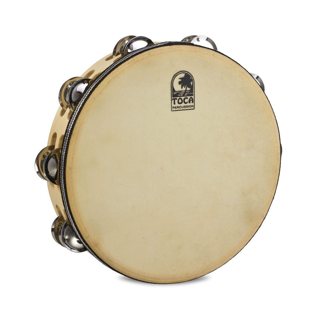 "Toca Percussion - Player's Series - 10"" Double Row Wood Tambourine Double Row with Head (10"")"