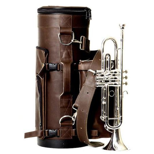 Torpedo Bag - Loredo Trumpet Bag with Mute Bag and Music Pouch-Case-Torpedo Bag-Chocolate Brown-Music Elements