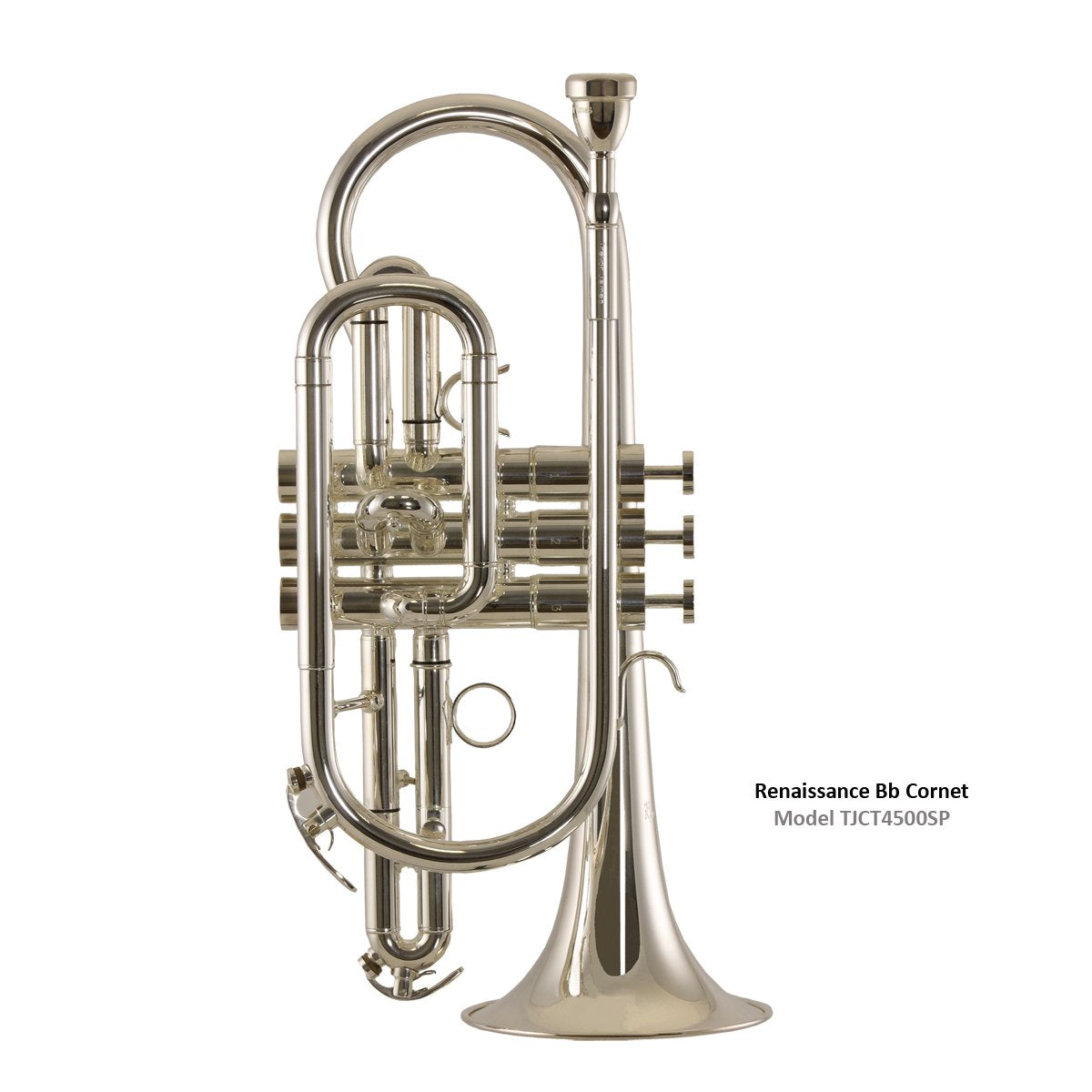 Trevor James - 4500 Renaissance Bb Cornet-Cornet-Trevor James-Silver Plated (4500SP)-Music Elements
