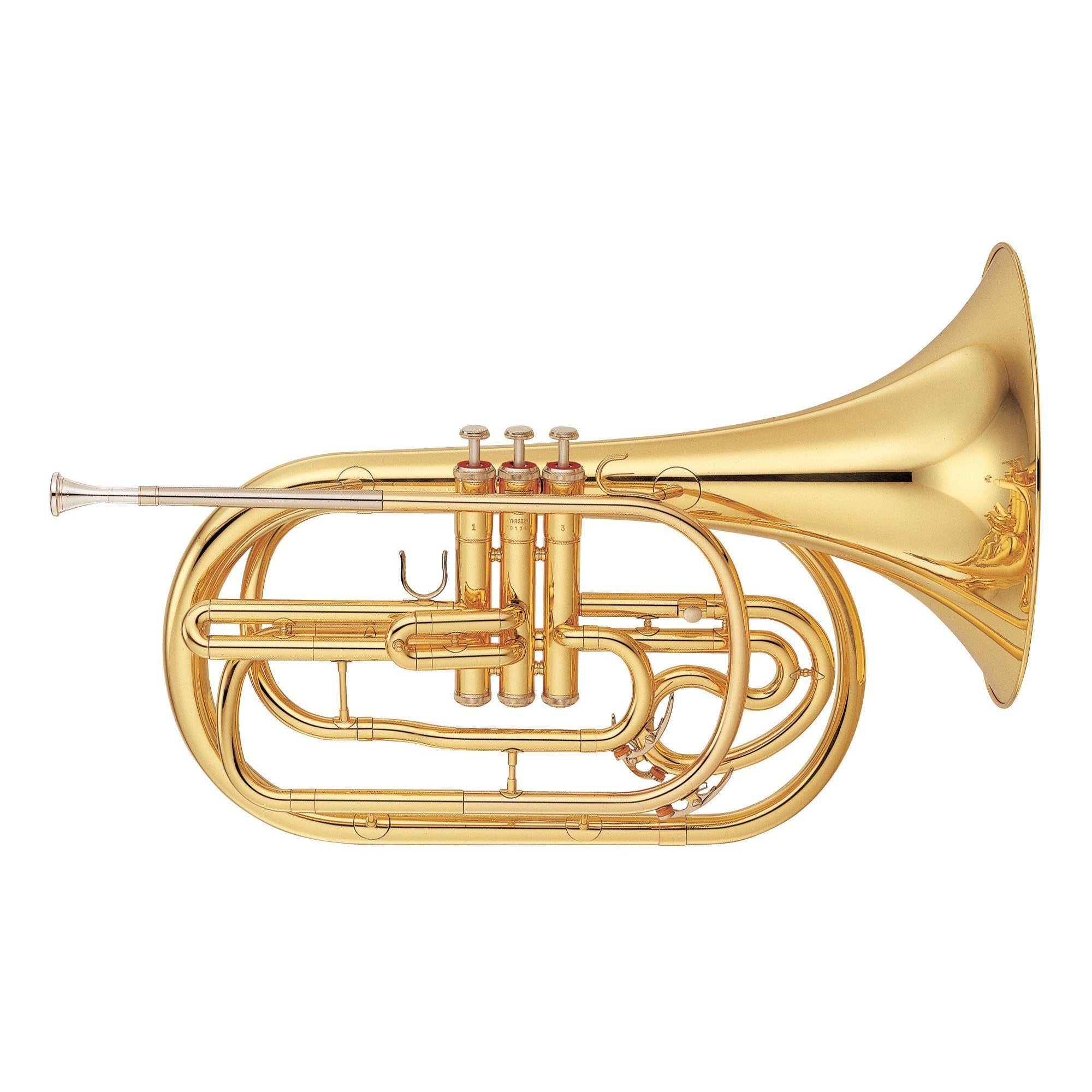 Yamaha - YHR-302M - Marching French Horn-French Horn-Yamaha-Music Elements