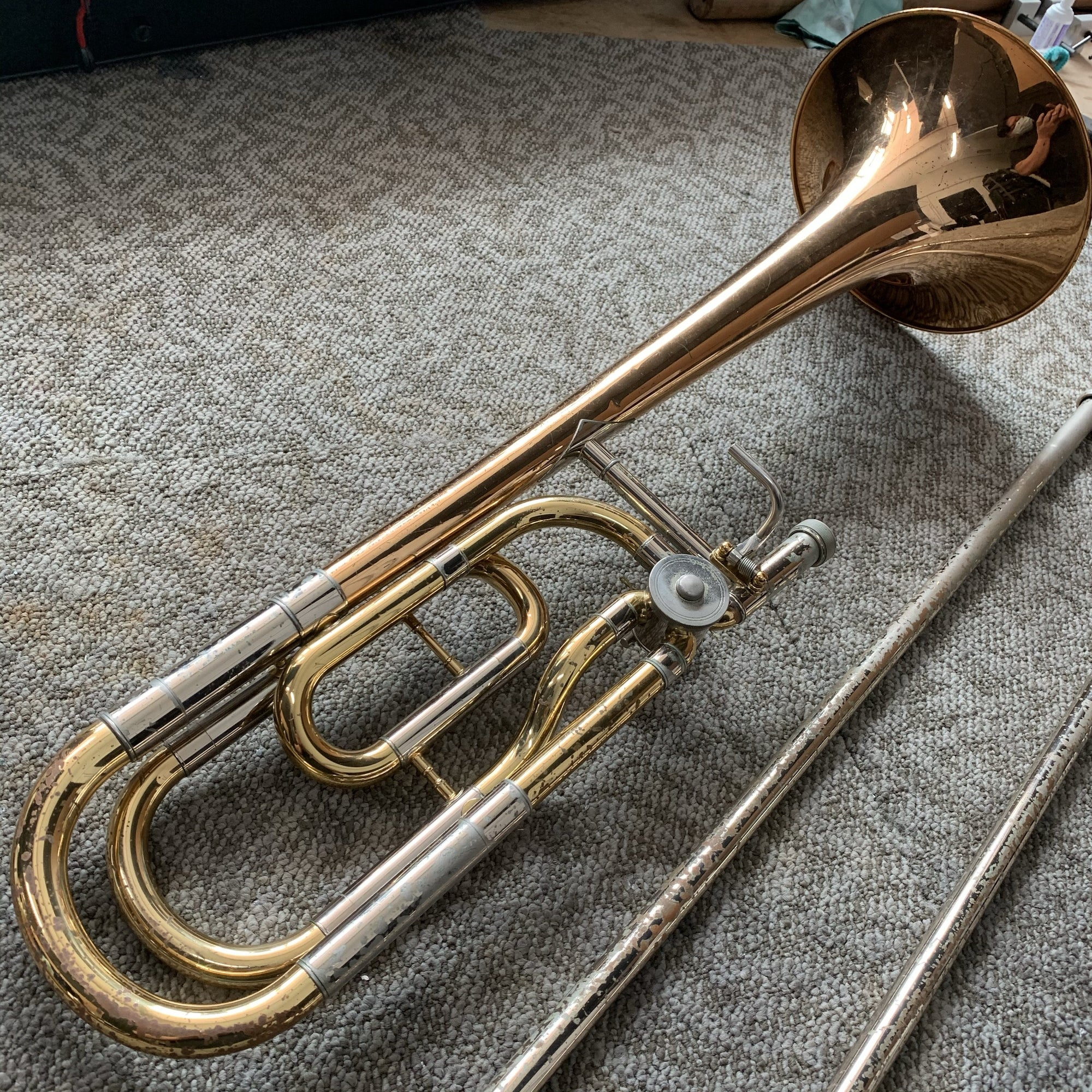 Yamaha - YSL-648R Professional Bb/F Tenor Trombone (Pre-Owned)-Trombone-Yamaha-Music Elements