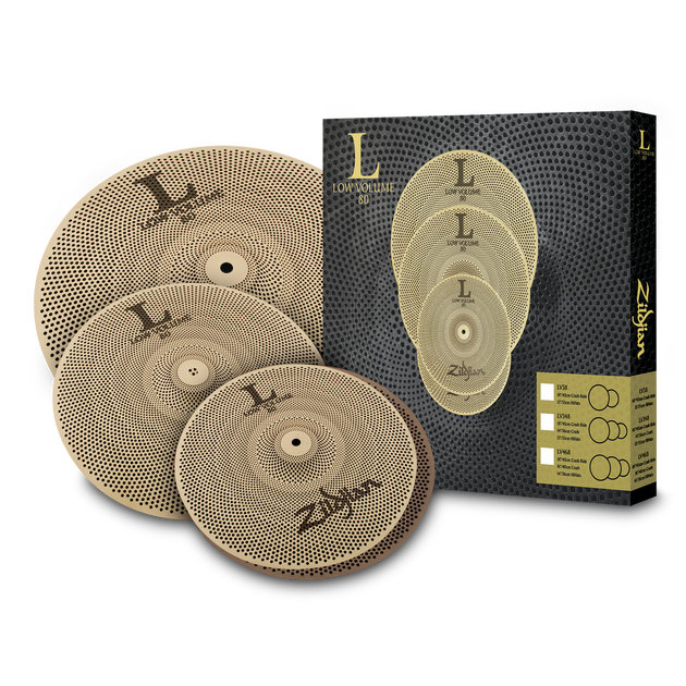 "Zildjian - LV348 Low Volume Cymbal Set (13/14/18"")-Cymbal-Zildjian-Music Elements"