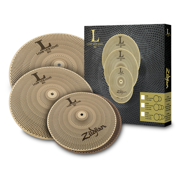 "Zildjian - LV468 Low Volume Cymbal Set (14/16/18"")-Cymbal-Zildjian-Music Elements"