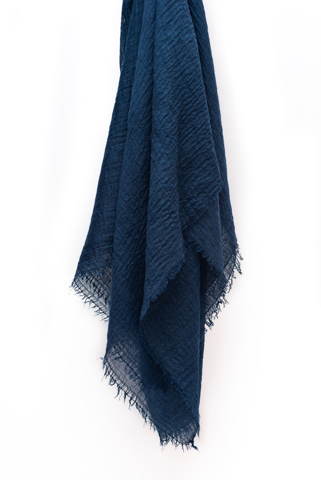 Navy Blue Cotton Crinkle