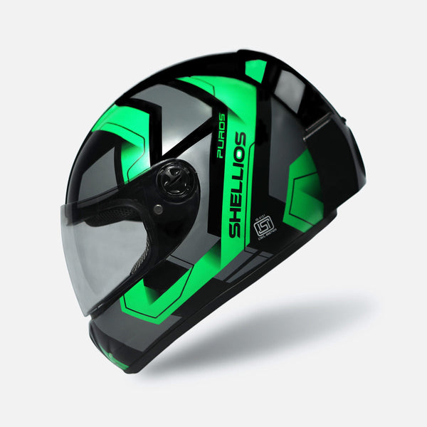 PUROS Black w/ Green Decal