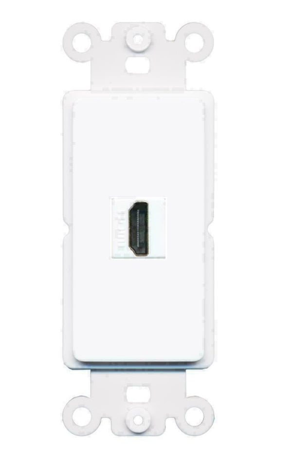 1 Port HDMI Decora Type Wall Plate Insert - White