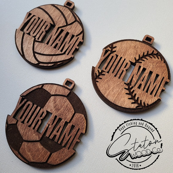 Custom Sports Ornaments