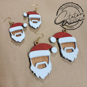 Black Santa Earrings