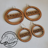 Custom Etched/Cut-out Earrings