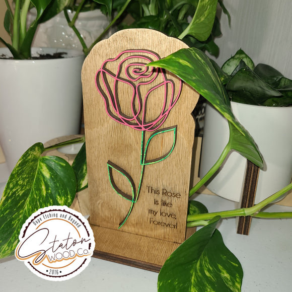 Forever Rose Standing Plaque