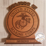 Custom Standing Plaque with box base