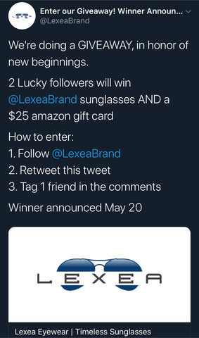Twitter giveaways