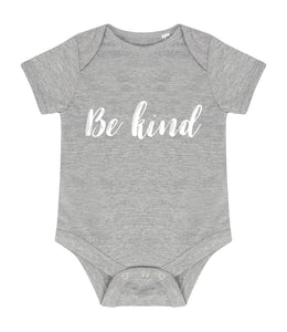 "Short Sleeve ""Be Kind"" Baby Vest"
