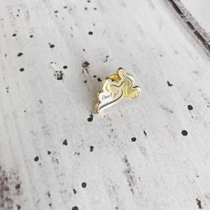 Don't Get Lippy Enamel Pin (WITH text)