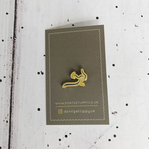 Don't Get Lippy enamel pin (NO text)
