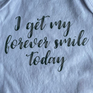 "Short Sleeve ""I Get My Forever Smile Today"" Baby Vest"