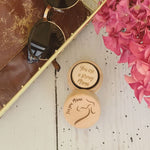 Wooden Engraved Positive Affirmation Tokens