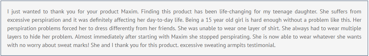 Maxim® Customer reviews