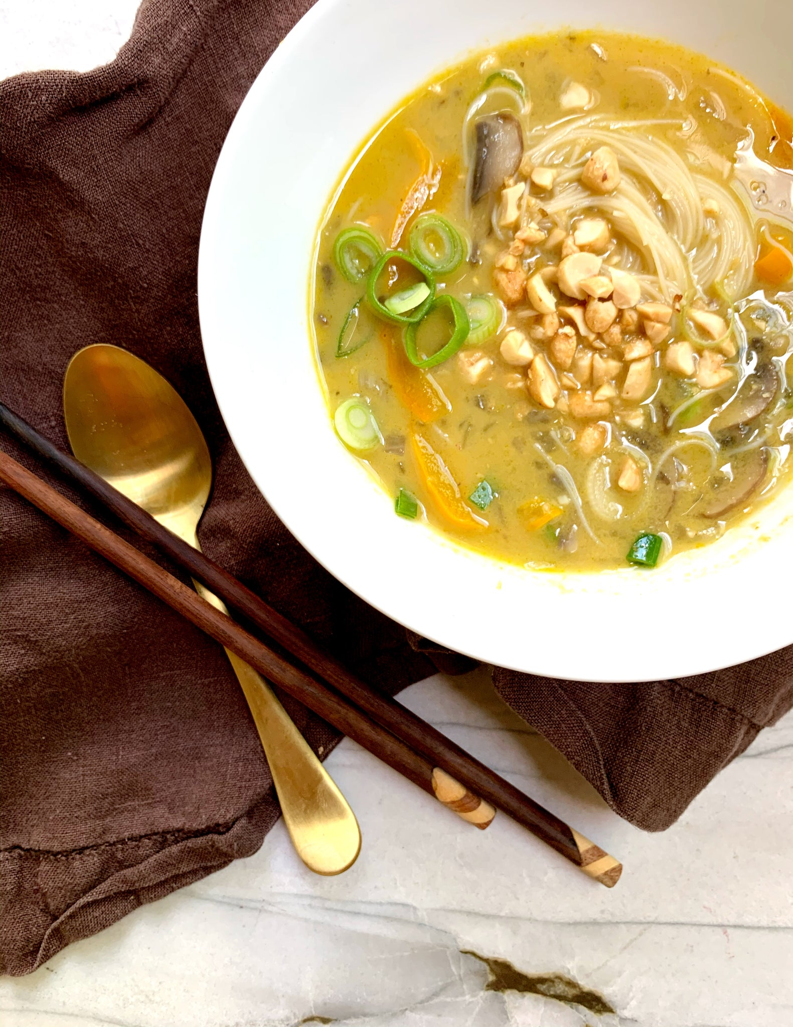 Vegetarian Thai Yellow Curry Soup