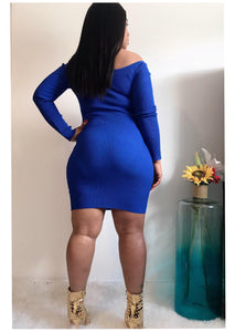 """BLUE BOMBSHELL"" Ribbed Mini"