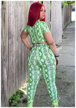 "Load image into Gallery viewer, ""POISON IVY"" Snake Skin 2 Piece"
