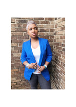 "Load image into Gallery viewer, ""CHIC ROYAL"" Blue Blazer"