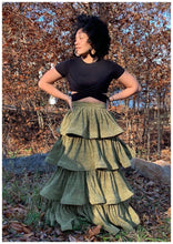 "Load image into Gallery viewer, ""THE KARESE"" Ruffle Maxi Skirt"