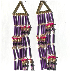 PURPLE DRIP EARRINGS