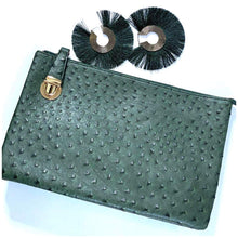 "Load image into Gallery viewer, ""OSTRICH"" Print Leather Clutch"
