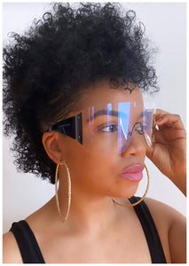 """THROWING SHADE ""  Clear Sunglasses"