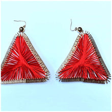 Load image into Gallery viewer, RED & GOLD STUNNER EARRINGS