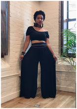 "Load image into Gallery viewer, ""UNBOTHERED"" 2 piece Wide Leg set"